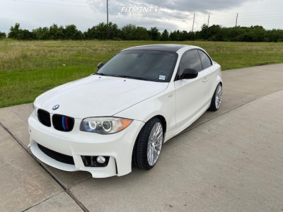 2012 BMW 128i - 18x8.5 35mm - Versus Racing Vs442 - Coilovers - 225/35R18