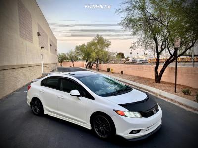 2012 Honda Civic - 18x8 34mm - JNC Jnc005 - Lowering Springs - 225/40R18