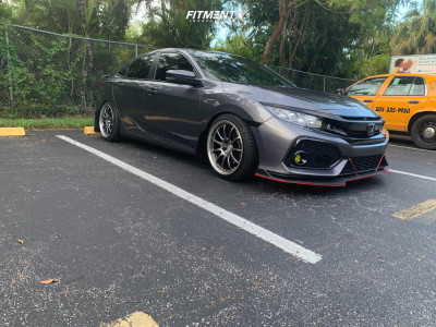 2019 Honda Civic - 18x8.5 25mm - Work Emotion - Lowering Springs - 245/40R18