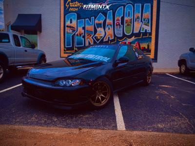 1995 Honda Civic - 16x8.25 30mm - JNC Jnc006 - Coilovers - 195/55R16