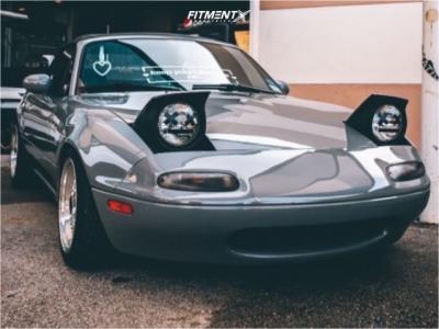1991 Mazda MX-5 Miata - 15x8 0mm - JNC Jnc004 - Coilovers - 195/50R15