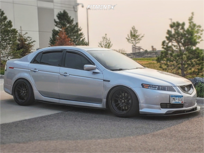 2005 Acura TL - 18x9.5 10mm - Cosmis Racing Xt-206r - Coilovers - 225/40R18