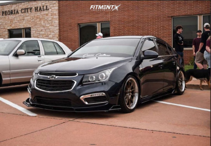 2015 Chevrolet Cruze - 18x8.5 35mm - Aodhan Ds07 - Coilovers - 235/40R18