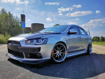 2010 Mitsubishi Lancer - 18x9.5 30mm - Work D9r - Coilovers - 225/40R18
