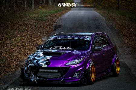 2013 Mazda MazdaSpeed3 - 18x11 8mm - Cosmis Racing Xt-006r - Coilovers - 275/35R18