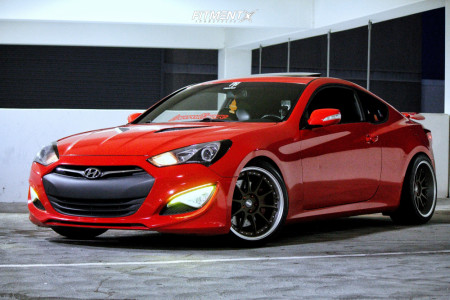 2014 Hyundai Genesis Coupe - 19x9 22mm - ESR Cs12 - Lowering Springs - 225/40R19