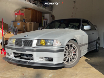 1998 BMW 328is - 17x8 40mm - Team Dynamics Pro Race 1.2 - Coilovers - 255/40R17