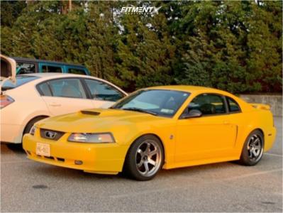 2004 Ford Mustang - 18x10.5 22mm - Avid1 Av20 - Coilovers - 255/40R18