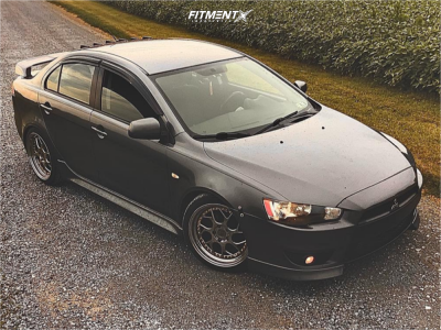 2011 Mitsubishi Lancer - 18x8.5 35mm - Aodhan Ds01 - Coilovers - 225/40R18