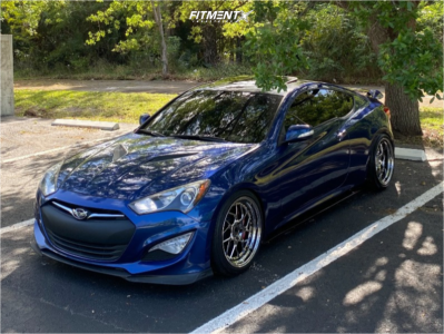 2016 Hyundai Genesis Coupe - 19x9.5 22mm - Aodhan Ds01 - Coilovers - 245/35R19