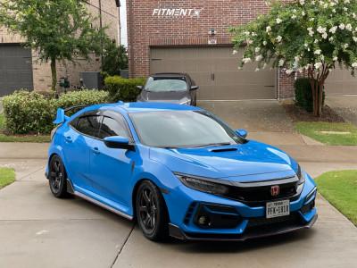 2021 Honda Civic - 18x9.5 45mm - Titan7 T-D6 - Lowering Springs - 265/35R18
