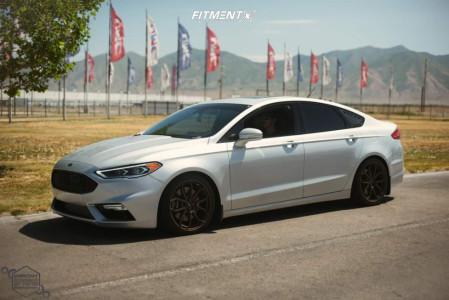 2017 Ford Fusion - 19x8.5 42mm - Momo RF Series Anzio - Lowering Springs - 235/35R19
