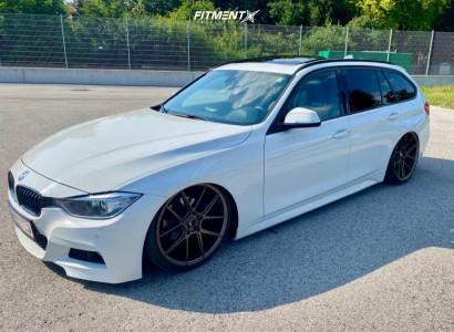 2013 BMW 320i xDrive - 20x8.5 35mm - Japan Racing Jr30 - Air Suspension - 225/35R20