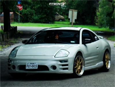 2003 Mitsubishi Eclipse - 18x9.5 45mm - Motegi Mr135 - Coilovers - 225/40R18