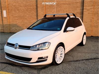 2015 Volkswagen Golf - 18x8.5 38mm - Versus Racing Vs24 - Stock Suspension - 225/40R18
