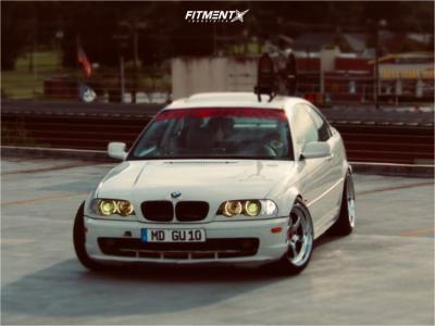 2000 BMW 328Ci - 18x9.5 22mm - Kansei Roku - Coilovers - 235/40R18