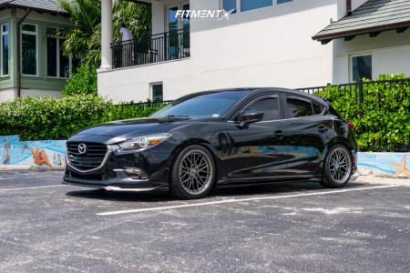 2017 Mazda 3 - 18x8.5 35mm - XXR 571 - Lowering Springs - 235/40R18