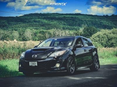 2013 Mazda MazdaSpeed3 - 18x8.5 38mm - Enkei T6r - Stock Suspension - 235/45R18