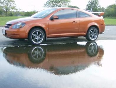 2007 Chevrolet Cobalt - 17x7.5 32mm - Tenzo R Mean 6 - Lowering Springs - 205/45R17