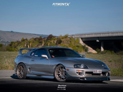 1998 Toyota Supra - 19x9.5 22mm - Rays Engineering Ce28n - Coilovers - 235/35R19