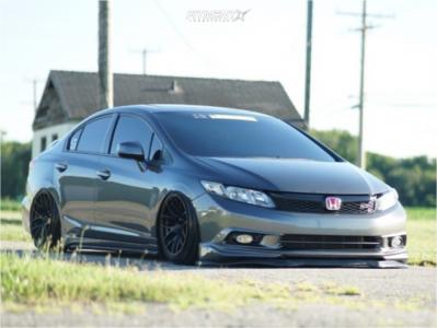 2012 Honda Civic - 17x9.75 20mm - XXR 530 - Air Suspension - 215/45R17