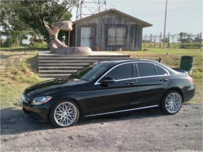 2016 Mercedes-Benz C300 - 18x8.5 40mm - F1R F103 - Lowering Springs - 225/40R18