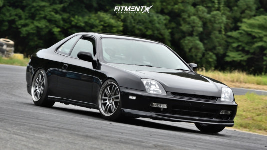 1997 Honda Prelude - 17x9 38mm - Rays Engineering 57 ULTIMATE - Coilovers - 215/45R17
