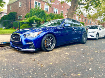 2018 Infiniti Q50 - 19x9.5 22mm - Aodhan Ds02 - Coilovers - 235/35R19