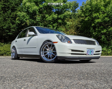 2004 Infiniti G35 - 19x9.5 22mm - Aodhan Ds02 - Coilovers - 235/40R19