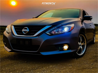 2018 Nissan Altima - 18x8 25mm - Panther Vector - Stock Suspension - 235/35R18