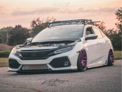 2018 Honda Civic - 18x10.5 22mm - ESR Sr08 - Air Suspension - 225/40R18