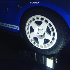 2010 Ford Mustang - 18x8.5 30mm - Fifteen52 Turbomac - Lowering Springs - 255/55R18