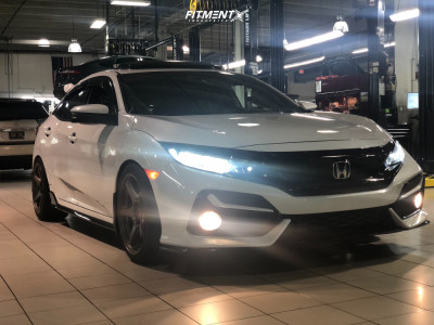 2021 Honda Civic - 18x9.5 38mm - Enkei Ts-5 - Lowering Springs - 255/35R18