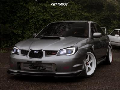 2007 Subaru WRX STI - 18x8.5 35mm - Aodhan Ah08 - Coilovers - 225/40R18
