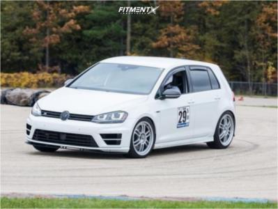 2017 Volkswagen Golf R - 18x8.5 45mm - Enkei Rpf1 - Lowering Springs - 235/35R18