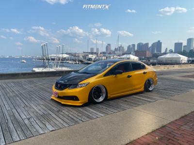 2015 Honda Civic - 18x9.5 10mm - Work Meister S1 3p - Air Suspension - 215/40R18