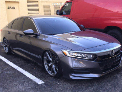 2019 Honda Accord - 20x9 22mm - Aodhan Aff7 - Coilovers - 215/35R20