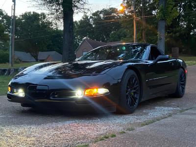 2004 Chevrolet Corvette - 17x9.5 52mm - 4Play OE Wheels Cv22 - Stock Suspension - 295/35R17