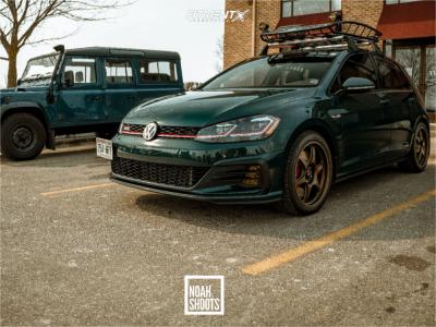 2019 Volkswagen GTI - 18x8.5 43mm - Konig Hexaform - Stock Suspension - 235/40R18