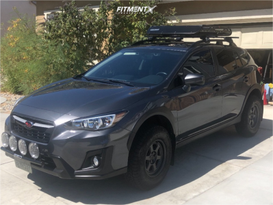 2020 Subaru Crosstrek - 15x7 10mm - Black Rhino Rumble - Lifted - 225/75R15