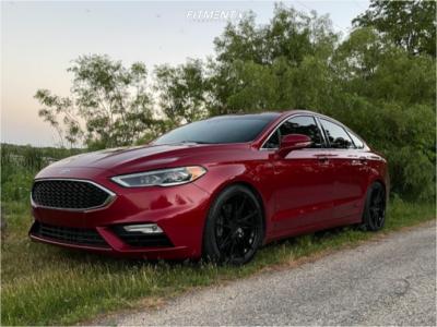2017 Ford Fusion - 19x8.5 42mm - Vertini RFS1.9 - Lowering Springs - 235/40R19