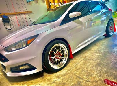 2017 Ford Focus - 18x8.5 45mm - F1R F21 - Stock Suspension - 255/35R18