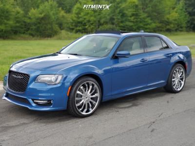 2021 Chrysler 300 - 22x9.5 45mm - Mazzi Fusion - Stock Suspension - 265/35R22