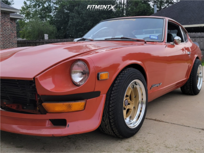 1974 Nissan 260Z - 15x9 -16mm - Work Equip 40 - Coilovers - 225/50R15
