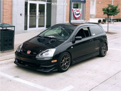 2004 Honda Civic - 17x8 45mm - Konig Ampliform - Lowering Springs - 215/45R17