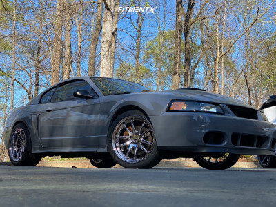 2003 Ford Mustang - 19x9.5 22mm - Aodhan Ds02 - Lowering Springs - 265/35R19
