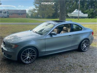 2009 BMW 128i - 19x9.5 35mm - Artisa ArtFormed Elder - Stock Suspension - 235/35R19