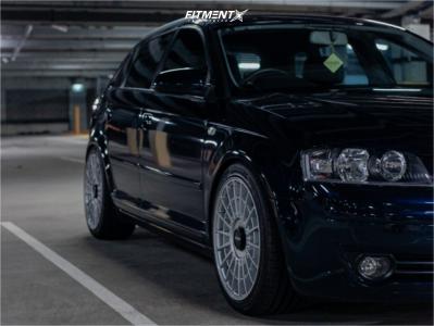 2007 Audi A3 - 18x8.5 45mm - Rotiform Las-r - Stock Suspension - 235/40R18