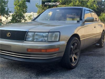 1992 Lexus LS400 - 18x8.5 35mm - AVID1 Av6 - Stock Suspension - 245/40R18