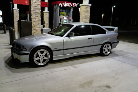 1998 BMW 323is - 17x9 35mm - Kansei Knp - Stock Suspension - 225/45R17